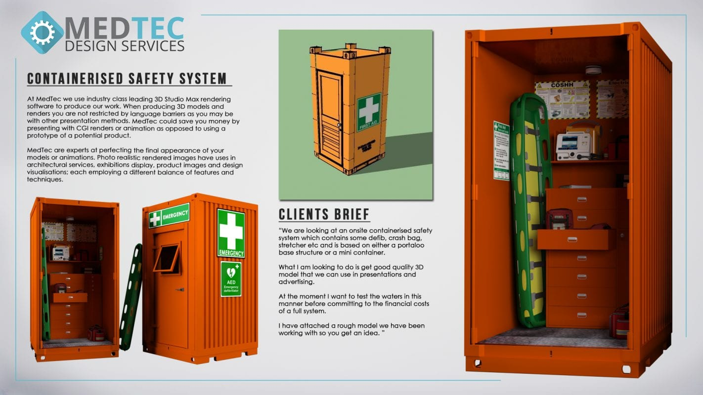 MedTec Design Services Hampshire First Aid Container Showcase