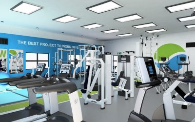 Architectural Design West Wight Sports Centre - Gym Design